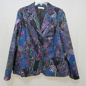 Coldwater Creek Paisley Print Blazer Jacket